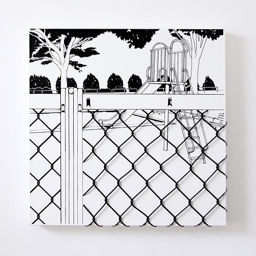 「フェンス越しの遊具」  イメージ1